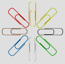 Free Colorful Paper Clips Stock Images - 16834484