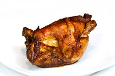 Free Roast Chicken, Isolated On White, With Brown Crust Stock Images - 16834574