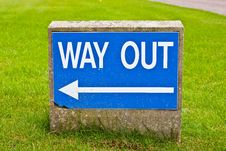 Free Way Out Stock Images - 16834784