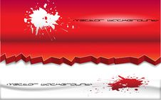 Free Red And White Background With A Blot Stock Images - 16835594