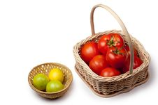 Free Tomato And Lemon Basket Stock Images - 16835654