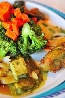 Closeup Of Broccoli Delicacy Stock Photos