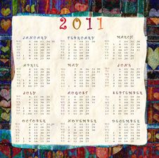 Free Calendar 2011 Royalty Free Stock Photography - 16836187