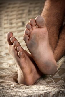 Dirty Feet Royalty Free Stock Images