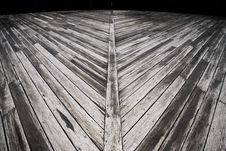 Free Weathered Outdoor Diagonal Timber Deck Royalty Free Stock Image - 16836836