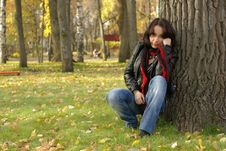 Free Female On Grass Royalty Free Stock Photos - 16837198