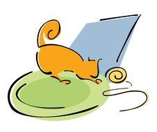 Free Orange Cat Stock Photography - 16838002