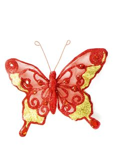 Red Butterfly Isolated Stock Images