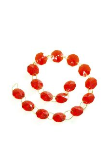 Free Red Gems In A Chain Isolated Stock Photography - 16838252