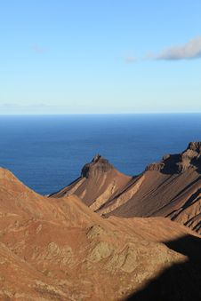 Free St Helena Island Volcanic Craters Landscape Royalty Free Stock Photo - 16839445