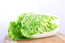 Free Fresh Cabbage On The Wood Desk Stock Photography - 16839962