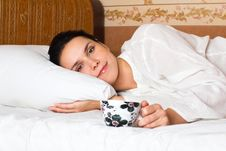 Free Woman Lying In Bed Royalty Free Stock Images - 16839999