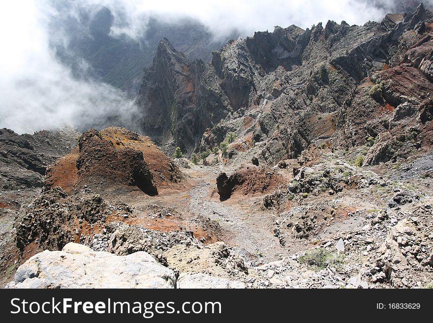 La Palma volcanic island