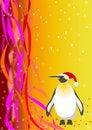 Free Santa Penguin. Vector File Royalty Free Stock Images - 16841229
