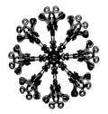 Free Snowflake Ornament Illustration Royalty Free Stock Photo - 16847855