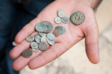 Free Ancient Coins Royalty Free Stock Image - 16840186