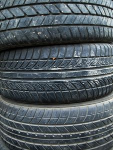 Free Texture Of Old Three Tire Royalty Free Stock Photo - 16840285