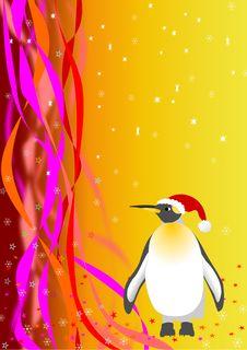 Santa Penguin. Vector File Royalty Free Stock Images