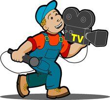 Free Cameraman. Stock Images - 16841784