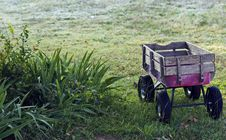 Free Child S Toy Wagon At Dawn Stock Photo - 16842460
