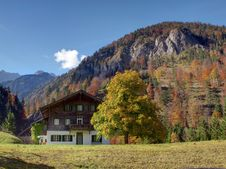 Free House In The Alps Stock Photography - 16842902