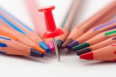 Free Pin And Pencils Stock Photography - 16843622