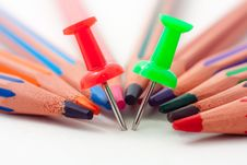 Free Pins And Pencils Stock Photography - 16843652
