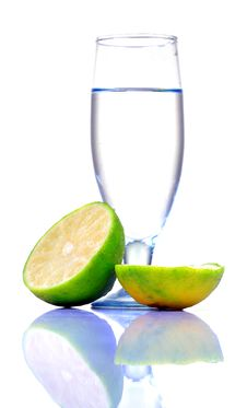 Fresh Lime Water Royalty Free Stock Image