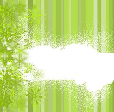 Free Abstract Green With Snowflakes Stock Photography - 16843962