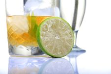 Free Fresh Lime And Whiskey Royalty Free Stock Photos - 16844148