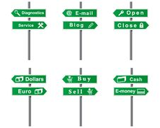 Set Of Arrows And Signs. Stock Photography