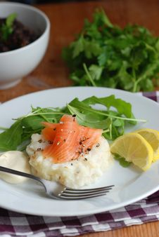 Salmon With Potatoes Royalty Free Stock Photos
