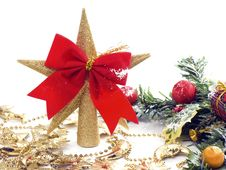 Free Christmas Decoration Isolated Stock Photography - 16844762