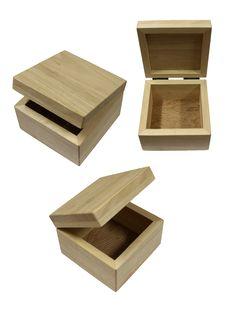 Free Wood Boxs On White Background Royalty Free Stock Photo - 16844805