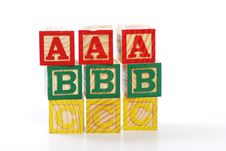 Free Letter Wood Blocks Stock Photo - 16845130
