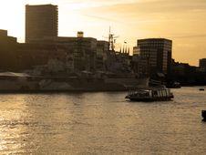 Free War Ship On River Thames Stock Image - 16845321