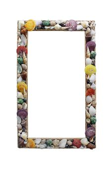 Free Frame With Many Different Seashells Royalty Free Stock Images - 16845349