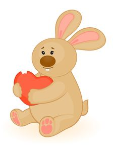 Free Bunny With Heart Royalty Free Stock Photos - 16845768