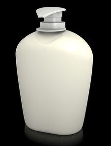 Free Soap Bottle On Black Royalty Free Stock Image - 16846166