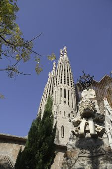 Temple / Church Of The Sagrada Familia, Barcelona Royalty Free Stock Photography
