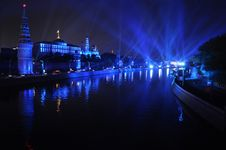 Free Kremlin Embankment At Night, Moscow, Russia. Stock Photography - 16846572