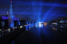 Free Kremlin Embankment At Night, Moscow, Russia. Stock Photography - 16846662