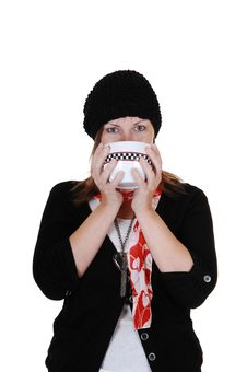 Free Girl Drinking Tea Royalty Free Stock Photography - 16847507