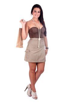 Happy Girl Shopping Stock Photos
