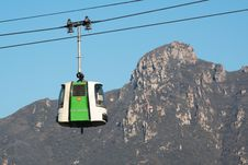 Cable Car Over The Great Wall Of China. Stock Photo