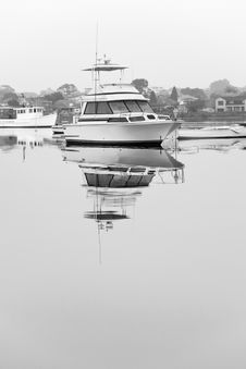 Free Luxury Cruiser Moored On Still Water Stock Image - 16847671