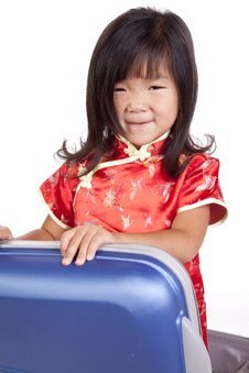 Free Chinese Youth In Suitcase Royalty Free Stock Image - 16847876