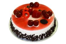 Free Birthday Cake With Strawberry Topping Royalty Free Stock Images - 16847899