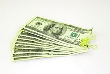 Free Clamped Dollar Bills Royalty Free Stock Photo - 16847905