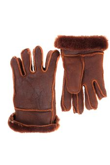 Leather Gloves With A White Background Stock Photo